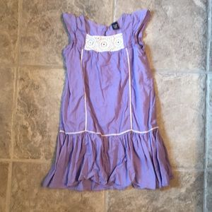 Girls dress with embroidered accent